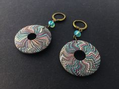 JH jewelry earrings Dark Places, Clay Tutorials, Photo Jewelry, Washer Necklace, Polymer Clay, Crochet Earrings, Etsy, Beads, Handmade
