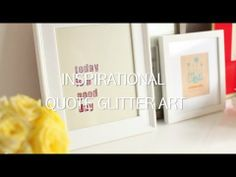 {VIDEO!} DIY Inspirational Quote Glitter Art by LEAFtv for @hsn