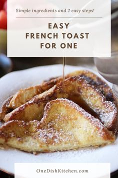 This fabulous french toast recipe is the best! Learn how to make french toast with a few simple ingredients and two easy steps. With buttery, crisp edges and a soft center, this french toast will surely make your morning special.