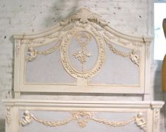 Check out our Shabby Chic bed selection for the very best in unique or custom, handmade pieces from our shops. Painted Cottage, Shabby Cottage, Cottage Chic, Shabby Chic, Wrought Iron Headboard, French Vanity, Romantic Princess, Decorative Mouldings, Cottage Kitchens