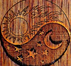 yin and yang sun and moon. I think this can look awesome as a tattoo maybe on the hip, back, shoulder or side.