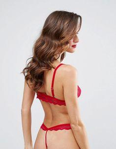 ASOS Malin Lace Triangle Bra - Red