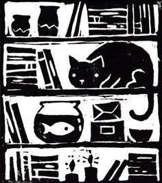 laura middleton illustration, styrofoam print.