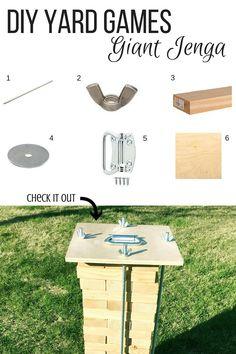 Diy build a giant jenga set for only 11 super easy crafts diy yard games giant jenga apieceofalyse solutioingenieria Choice Image