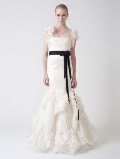 Mermaid Empire Waist Off the Shoulder Floor Length Organza Wedding Dresses