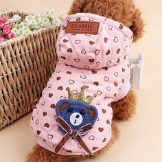 Dog Coat Jacket Winter Dog's Clothes Hoody Cotton-padded clothes Poodle Chihuahua Pet Costume dogs pets clothing manteau chien