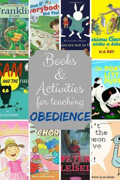 Books and Activities for teaching Obedience
