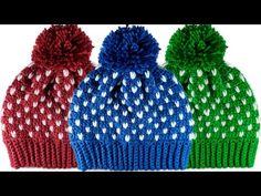 🌈GORRO para Niños y Adultos a Crochet (Paso a Paso) - YouTube Sombrero A Crochet, Crochet Beanie, Knitted Hats, Crochet Hats, Step By Step Crochet, Crochet Winter, Minnie Mouse, Winter Hats, Crochet Patterns