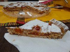 Crostata di marmellata di albicocche con farina integrale!
