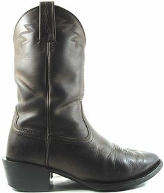 Ariat Men Vtg Western Leather Boots Size 8 EE Euro 41W Brown Style 34625. JAJ 1 #Ariat #CowboyWestern
