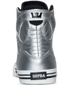 Supra Boys' Skytop High-Top Casual Sneakers from Finish Line - Silver 4.5