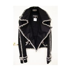 Chanel Jacket ❤ liked on Polyvore featuring outerwear, jackets, chanel, coats and chanel jacket