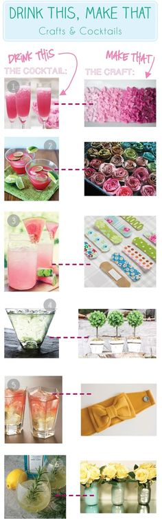 Smart! School {House}: Drink This, Make That (Crafts & Cocktails) -- Fun girl's night in!