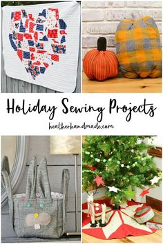 Decorating for a holiday adds a little magic to the celebration. I love slowly making holiday sewing projects to add to my small collections. Halloween Sewing Projects, Christmas Craft Projects, Handmade Christmas Decorations, Diy Halloween Decorations, Sewing Blogs, Sewing Tutorials, Sewing Tips, Sewing Projects For Beginners, Favorite Things