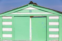 https://flic.kr/p/s9P9RW | Minty loveliness - Peppermint striped beach hut, West Wittering, West Sussex  | See more on the blog: www.zoepower.co.uk/2015/05/pretty-pastel-beach-hut-love.html