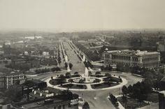 Philadelphia's Parkway from Logan Square, 1930