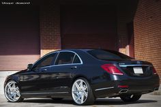 Blaque Diamond BD-1 Gloss Silver Machined Deep Concave 22x9 & 22x10.5 Fitted onto a Slammed Mercedes Benz S550
