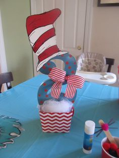 Cat in the Hat, with Thing 1 and Thing 2 Birthday Party Ideas | Photo 1 of 29 | Catch My Party