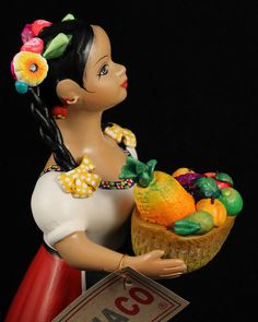 Lupita Doll a Seller of Fresh Fruit in a Red Dress