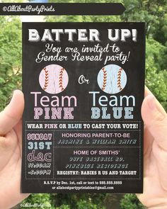 Baseball theme Gender Reveal Baby Shower by AllAboutPartyPrints