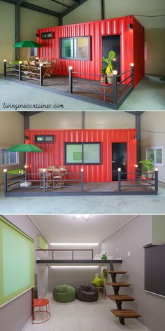 Tiny Container House, Shipping Container House Plans, Building A Container Home, Container Buildings, Container Shop, Home Room Design, Small House Design, Casas Containers, Tiny House Cabin
