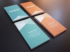 Curio's first business cards! One of two designs.