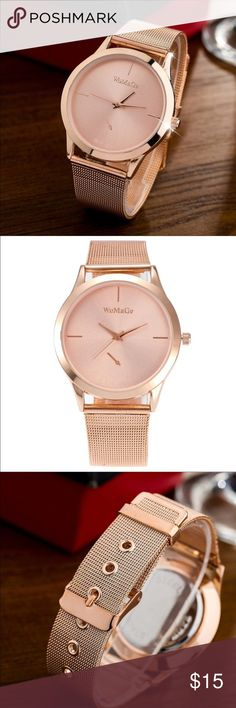Rose Gold Watch Beautiful Rose gold watch. Stainless steel and perfect for any occasion ❤️ Accessories Watches