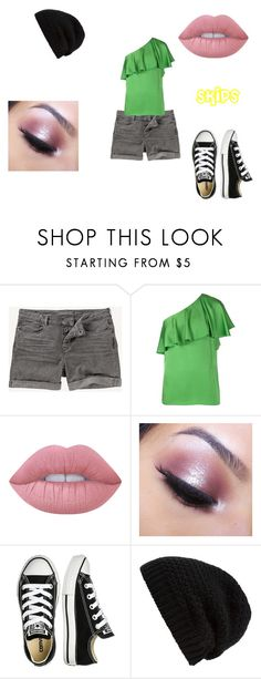 """Skips 15"" by shadow-killer-101 on Polyvore featuring Lanvin, Lime Crime, Too Faced Cosmetics, Converse and Rick Owens"