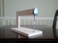 Graduating Caliper - Homemade digital graduating caliper constructed from a digital indicator and plywood.