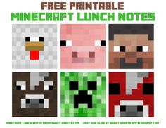 Free Minecraft Lunch Notes