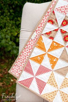 Freshly Handmade: Sugar & Spice Baby Quilt- possible pattern for Sophia2with smaller baby doll quilt