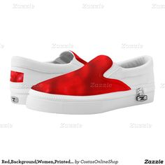 Red,Background,Women,Printed Shoes Printed Shoes,