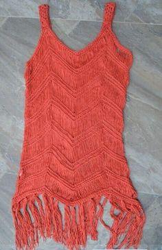 ec613bad4d423 Elegant Colorful Crochet-Knit Fringe V-Neck Quality Summer Beach Cover Up  M-L 5 Colors