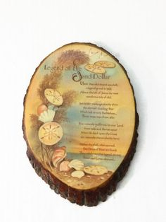 Legend of the Sand Dollar Wood Slice Vintage by ThriftyTheresa