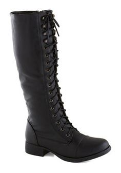 OH MY GOD Melodic Moment Boot in Black, #ModCloth
