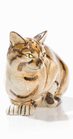 Eduard Klablena (1881-1933), Ceramic Cat, Vienna, c. 1920