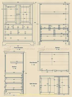 Oak Tallboy Plans - Furniture Plans