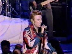 "David Bowie in an Alexander McQueen Union Jack Coat - '96 Fashion Awards - ""Little Wonder""."