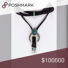 Stunning wrap black and turquoise tone choker! More photos to come! Jewelry Necklaces