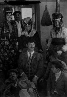 A Kurdish Village, Gaziantep. Kurdish men and women  from Dilok / Antep 1950's