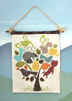 tea towel calendar diy