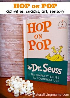 Dr. Seuss Day - Hop on Pop. Come find activities, snacks, and games to play with Hop on Pop for Dr. Seuss Day! Great for Fathers Day too!  - Natural Living Mamma