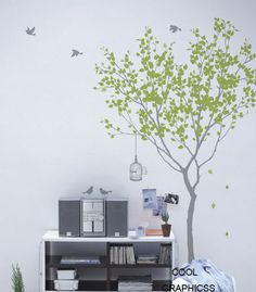 Love Tree 73 Inches tall Vinyl Wall Decal Sticker by coolgraphicss, $65.00
