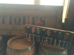 Booth at the distillery