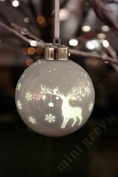 MINT GREY New York Style Interiors | produkty - dekoracje świąteczne  Świecące Bombki LED; Christmas Ornaments;
