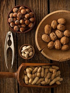 Assortment of nuts by Daniel Hurst - Stocksy United Marshmallows, Fudge, Assorted Nuts, Real Food Recipes, Healthy Recipes, Healthy Tips, Food Styling, Food Photography, Healthy Eating