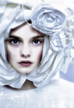 Nimue Smit photographed by Paolo Roversi for Vogue Italia ('The Power of White'), March 2009.