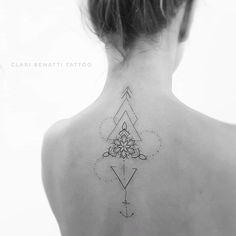 Geometric Ornamental Tattoo by Clari Benatti
