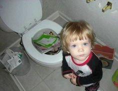 magazines dans les toilettes