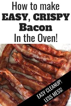 baconrecipes delcious crispy bacon fried make easy oven this mess free how the to in How to make easy crispy bacon in the oven This mess free oven fried bacon is delciousYou can find Cooking bacon in the oven and more on our website How To Fry Bacon, Bacon In The Oven, Fries In The Oven, Bacon Cooked In Oven, Cooking Bacon, Oven Cooking, Vegetarian Cooking, Cooking Tools, Cooking Timer